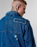 ALLDD Army Denim Jacket mid blue L