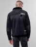 ALLDD Patched Classic Sherpa Denim Jacket faded black M