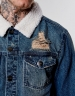 ALLDD Classic Sherpa Denim Jacket sand washed blue M