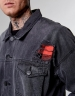 ALLDD Flanneled Trucker Denim Jacket vintage black XS