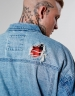 ALLDD Flanneled Trucker Denim Jacket light blue/sherpa XL