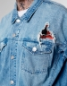 ALLDD Flanneled Trucker Denim Jacket light blue/sherpa M
