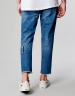 ALLDD Raw Edge Denim Pants mid blue 2830