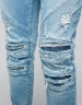 ALLDD Paneled Inverted Biker Ian Denim Pants light blue 3230