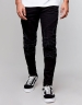 ALLDD Paneled Inverted Biker Ian Denim Pants black 3030