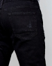 ALLDD Paneled Inverted Biker Ian Denim Pants black 3232