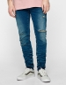 ALLDD Stacked Ian Denim Pants sand washed blue 2830