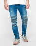 ALLDD Inverted Biker Ian Denim Pants mid blue 3230