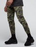 ALLDD Paneled Inverted Biker Jogger Pants woodland camo XL