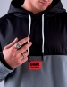 CSBL Nine Zero Polar Hoody grey/lazerred XXL
