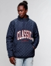 CSBL Worldwide Classic Half Zip Jacket deep navy/white XS