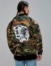 CSBL Patched Loose Flight Jacket woodland camo/orange S