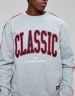 CSBL Worldwide Classic Crewneck grey heather/navy L