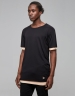 CSBL Deuces Long Layer Tee black/pale peach L