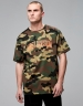 CSBL Patched Oversized Tee woodland camo/orange XL