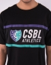 CSBL Insignia Semi Box Tee black/purple M