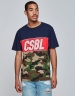 CSBL Ante Up Tee navy/mc L