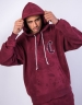 CSBL Blackletter Box Hoody bordeaux tiedye/white XL