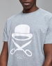C&S PA Icon Tee grey heather/white XS