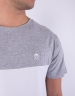C&S PA Small Icon Blocking Tee grey heather/white L