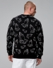 C&S WL Trust Allover Crewneck black/white L