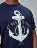 C&S WL Stay Down Tee navy/white XL