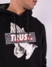 C&S WL Jay Trust Hoody black/heather grey M