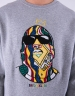 C&S WL Crowned Crewneck heather grey/mc M