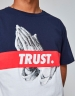 C&S WL Block Trust Tee white/navy L