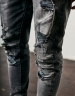 C&S Paneled Denim Pants vintage distressed/black 3032
