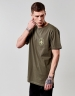 CSBL FRDM Long Scallop Back Tee olive L