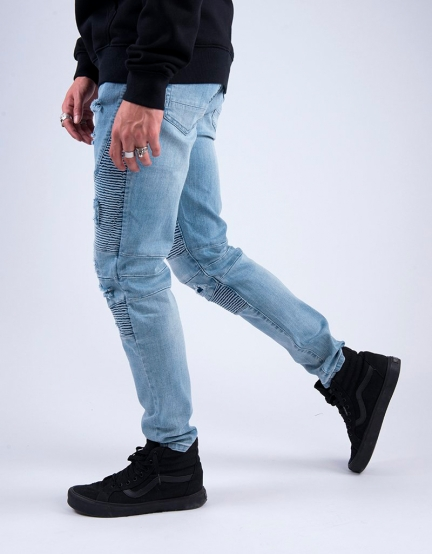 ALLDD Broken Biker Ian Denim Pants light blue 2830