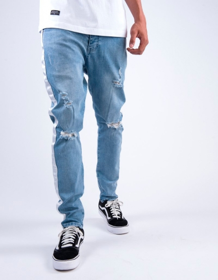 ALLDD Track Ian Denim Pants light blue 3230