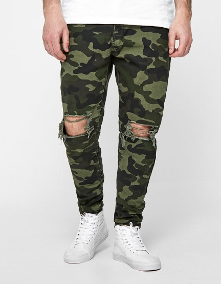 ALLDD Unchained Tim Denim Pants woodland camo 2830