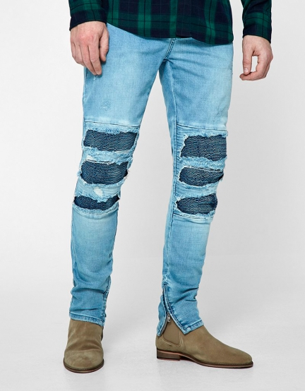 ALLDD Inverted Biker Ian Denim Pants light blue 3032