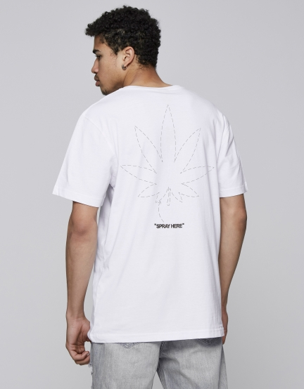 C&S Spray Here Tee white/black XS
