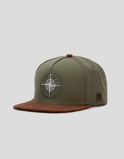 C&S CL Navigating Cap olive/brown one