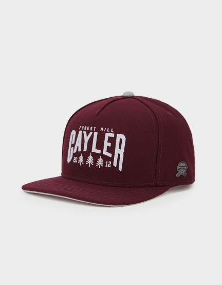 C&S CL Cayler Hill Cap maroon/grey one size