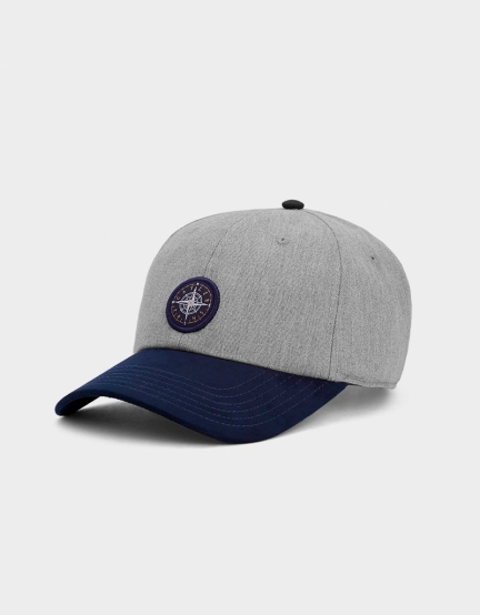 C&S CL Navigating Curved Cap grey heather/navy one