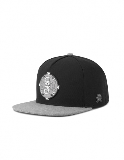 C&S CL Native Shield Cap black/heather grey one