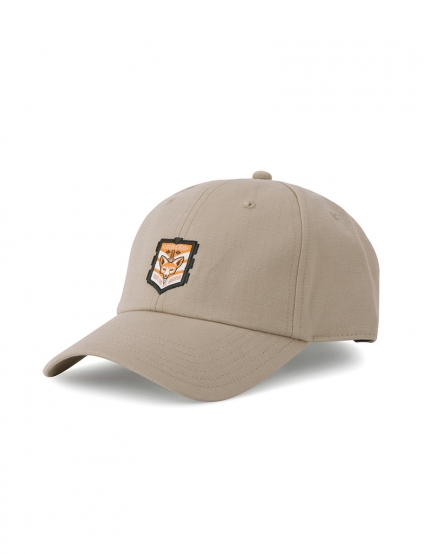 C&S CL Hunted Curved Cap sand/mc one