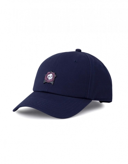 C&S CL Death Rose Curved Cap navy/mc one