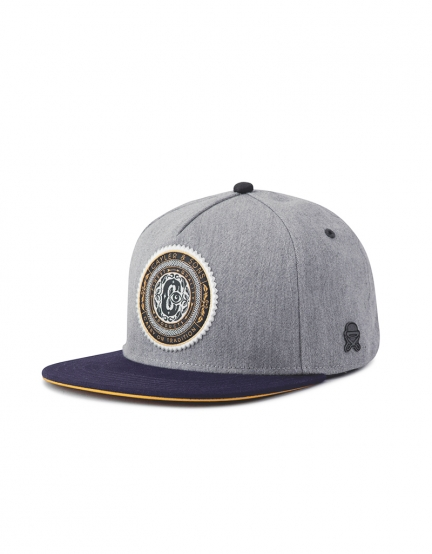 C&S CL Finest Quality Cap grey heather/navy one