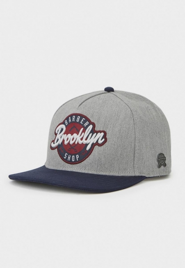 C&S CL BK Barber Cap navy/grey one