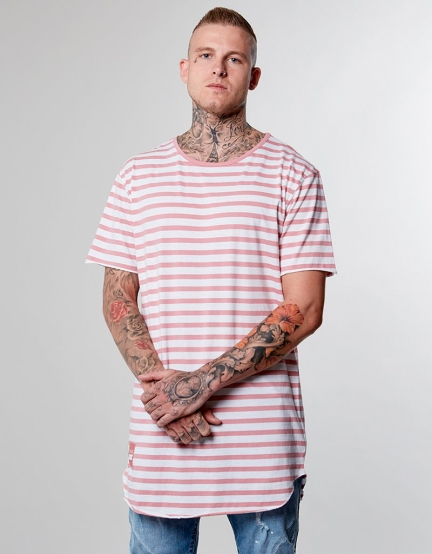 CSBL Striped Scallop Long Tee