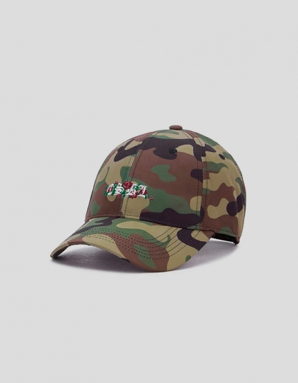 CSBL Bon Curved Cap woodland camo/white one