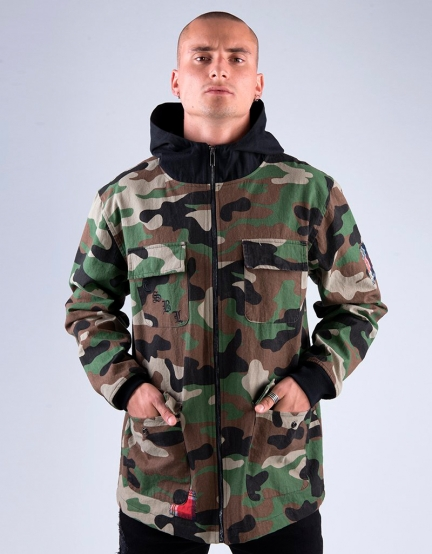 CSBL Order Army Jacket woodland camo/black XXL