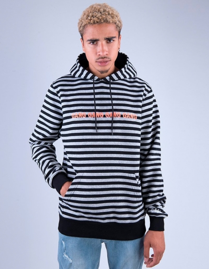 CSBL Gangrow Hoody black heather grey S