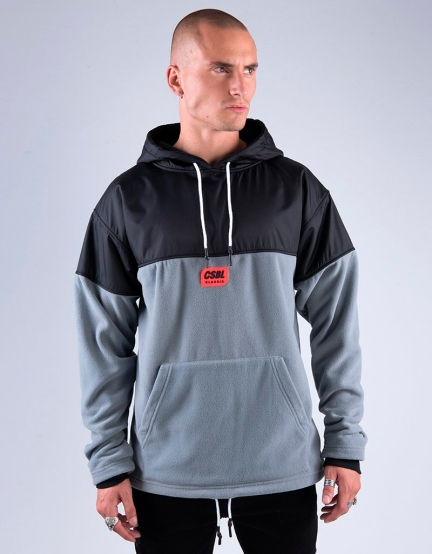CSBL Nine Zero Polar Hoody grey/lazerred XS