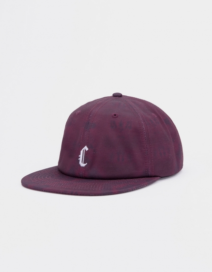 CSBL Blackletter Strapback maroon tiedye/white one size
